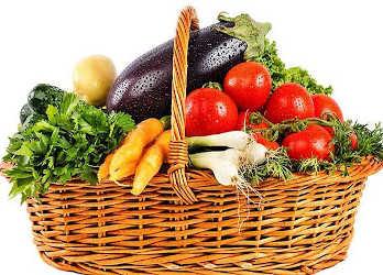 Les paniers légumes de l'association les Amis du Jardin